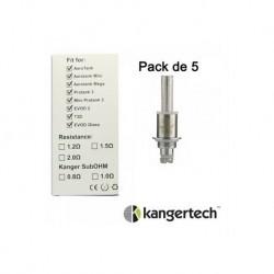Résistances Kangertech Dual Coil pack de 5 pcs
