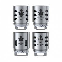 Pack résistances V12 Prince X6 Smok : TFV12 Prince, vapeur dense, 80W-110W