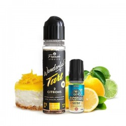2 Citrons 0mg 50ml + 1 Booster Nicomax 20mg - Wonderful Tart by Le French Liquide